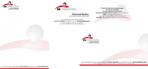EB Consulting papeterie