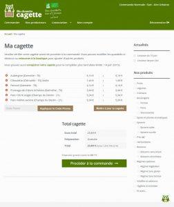 Site internet e-commerce Ma Chouette Cagette