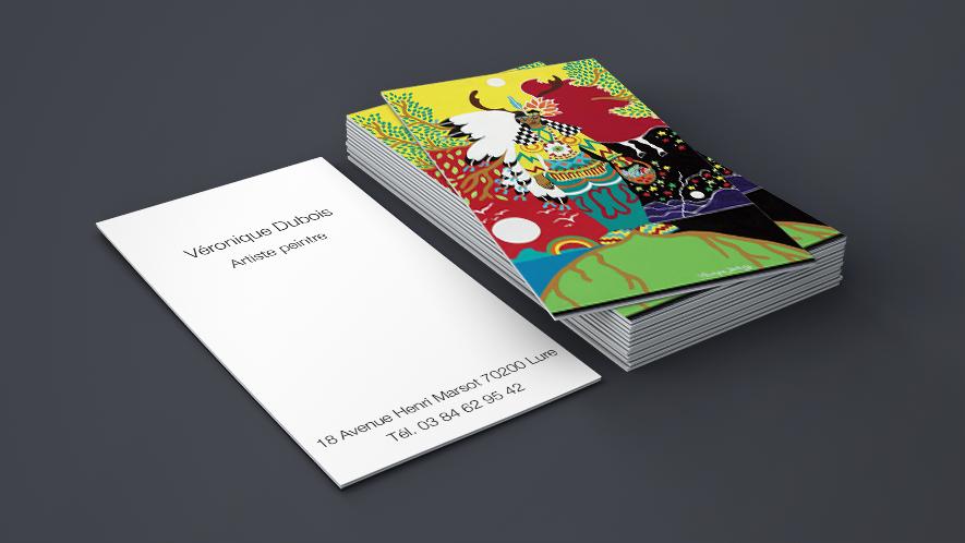 carte de visite peintre Cartes de visite artiste peintre | Concept Impression