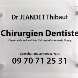 Plaque plexi dentiste