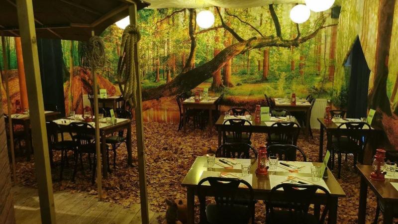 Décor mural restaurant