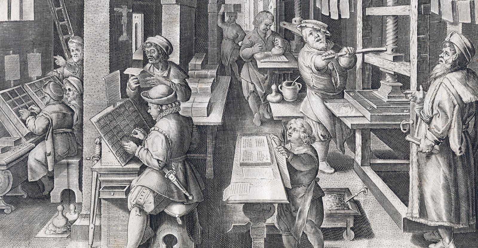 L'invention du livre imprimé, Musée Plantin-Moretus - Wikipédia, licence Creative Commons CC0