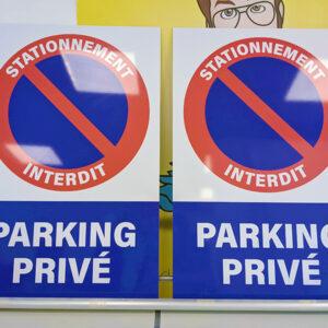 Panneaux stationnement